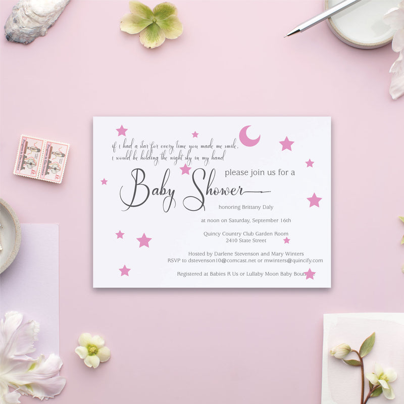 Twinkle Little Star Baby Shower Invite