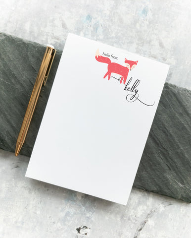 Cute Fox Memo Pad - Kelly