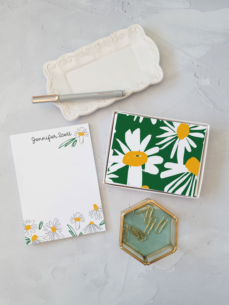 Daisy Scribbles Gift Set - Notepad and Cards