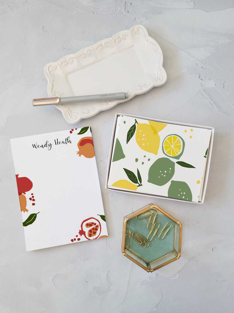 Pomegranate Gift Set - Notepad and Cards