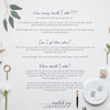 Emily | Escort Card | Place Card