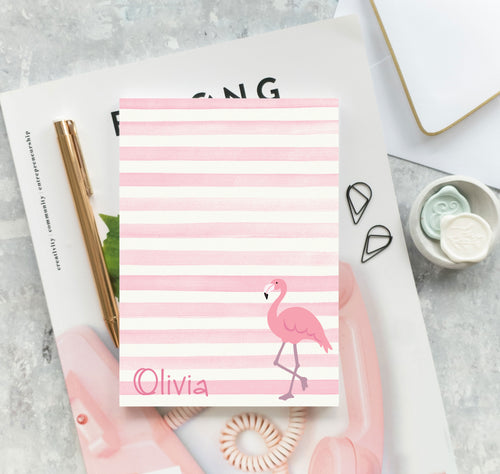Pink Flamingo Watercolor Notepad - Olivia