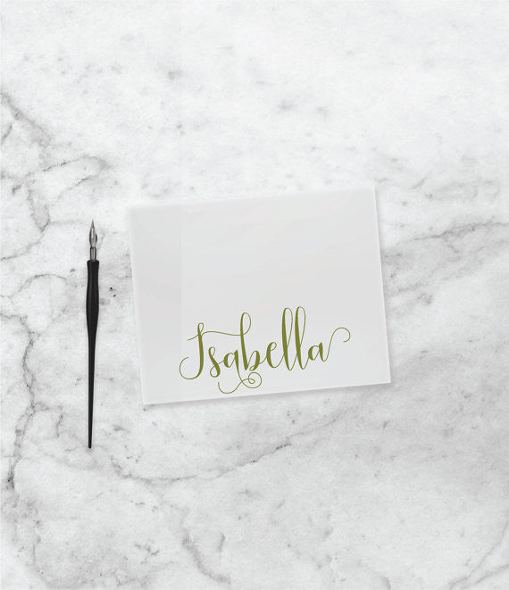 personalized note card set personal note card gift for her