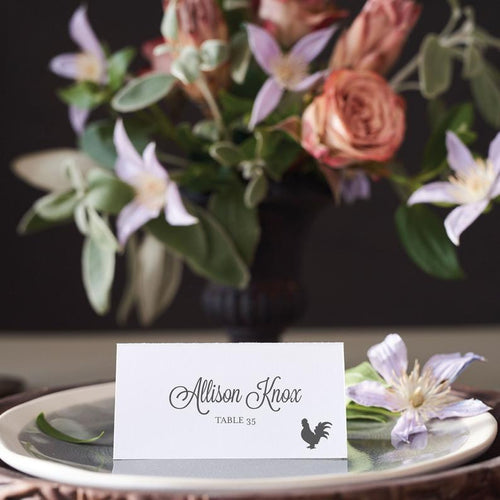 Melaina and Anthony Place Card