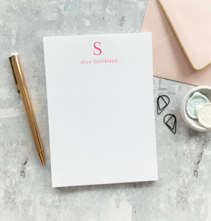 Personalized Monogram Notepad - Kevin