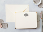 foil monogram personal stationery set