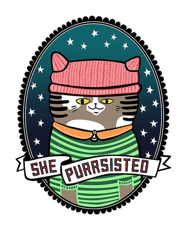She Purrsisted Poster
