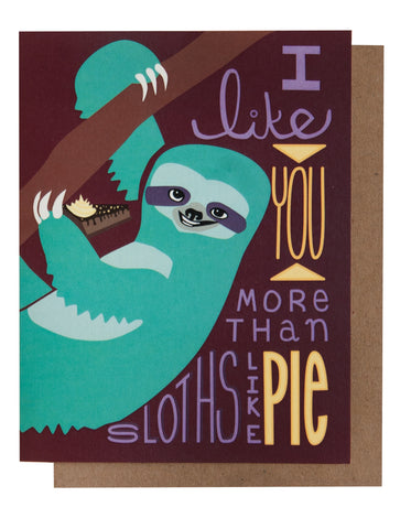 Sloths Love Pie