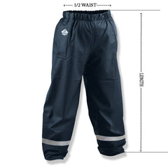 Kids Waterproof Overtrouser Measurements