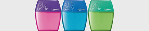 Maped Sharpener Double Hole Shaker - 3 Assorted Colours