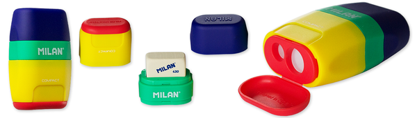 Milan Compact 2 in 1 Eraser & Sharpener Double Hole