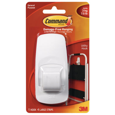 3M Command™ Adhesive Utility Hook Jumbo Pack of 1