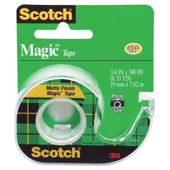 3M Scotch Magic Invisible Tape & Dispenser 19 x 7.62 m