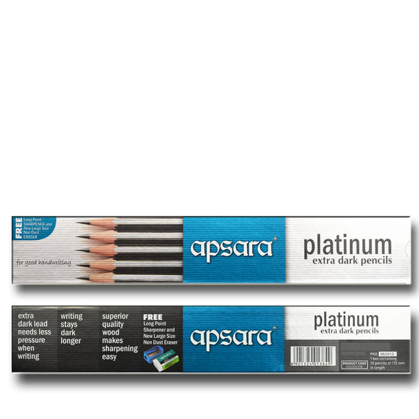 HB Pencils Platinum - 10 PK with Free Sharpener & Eraser - School Depot NZ