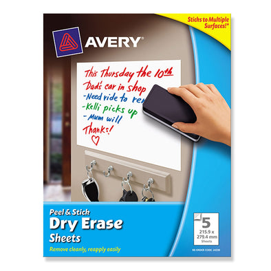 Avery Dry Erase Peel & Stick Sheets