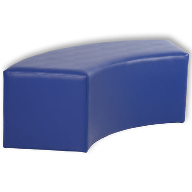BFX Ottoman Snake Curved Stool Blue - School Depot NZ
