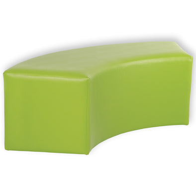 BFX Ottoman Snake Curved Stool Green - School Depot NZ