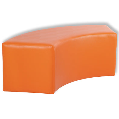 BFX Ottoman Snake Curved Stool Orange - School Depot NZ