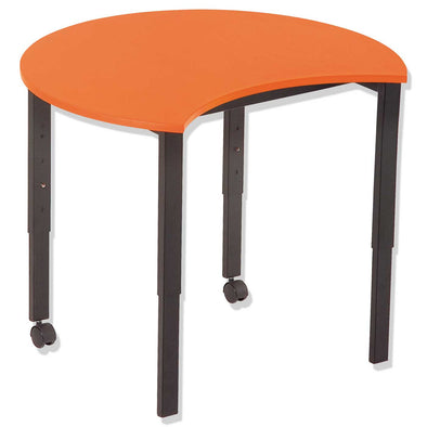 SmarTable Carve Height Adjustable Students Table  Orange - School Depot NZ