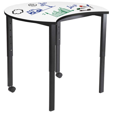 SmarTable Carve Height Adjustable Table  Whiteboard - School Depot NZ