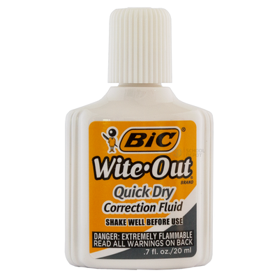 BIC Correction Fluid Wite Out Quick Dry 20ml