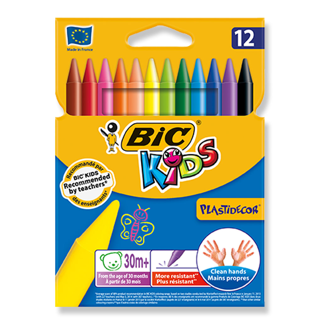 Chair bags for school nz - Home Bic Kids Plastidecor Erasable Plastic Crayons 12 Shades