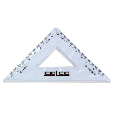 Celco 45 Degree Set Squares 14 cm Clear - School Depot