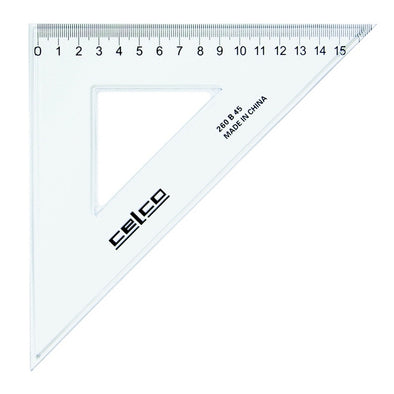 Celco 45 Degree Set Squares 26 cm Clear - School Depot