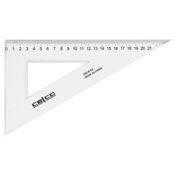 Celco 60 Degree Set Squares 26 cm Clear - School Depot