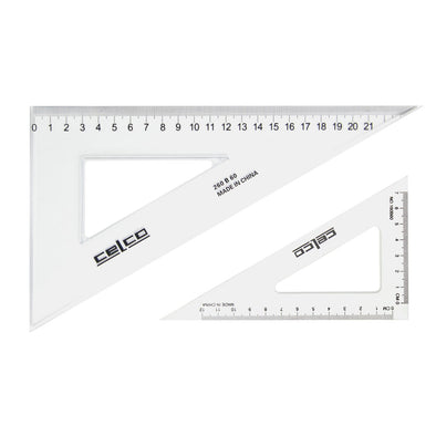Celco 60 Degree Set Squares 32 cm Clear - School Depot