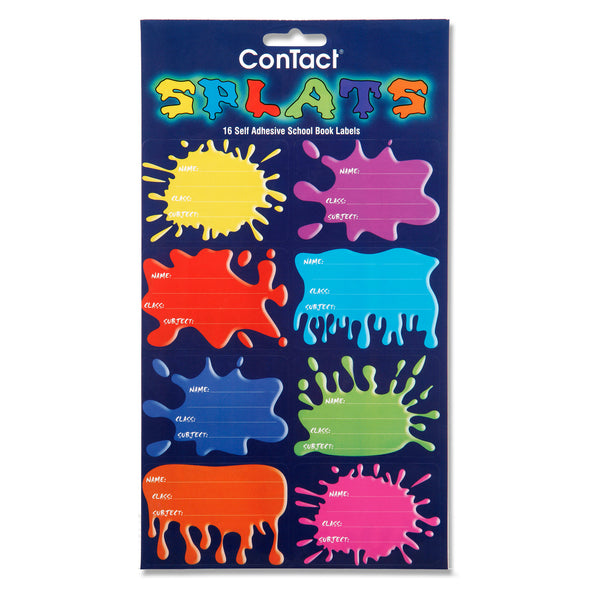 Contact Book Labels Self-Adhesive SPLAT Pack 16
