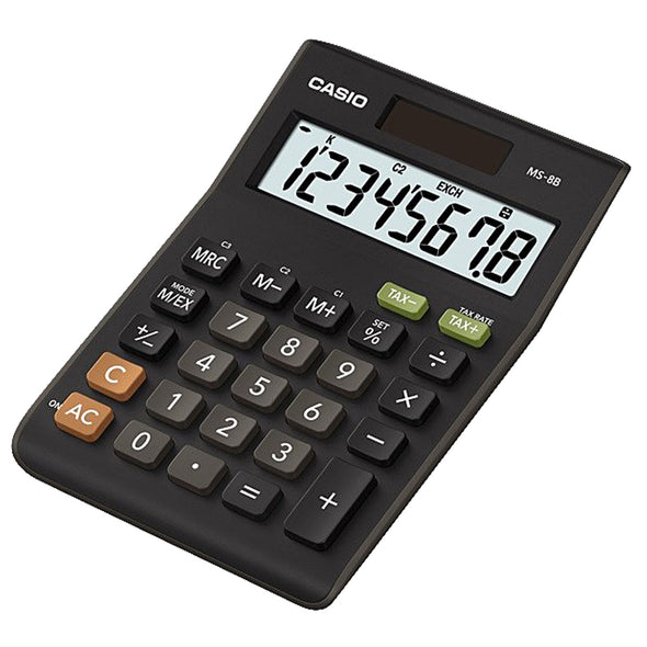 Casio MS-8B Desktop Tax Calculator - School Depot