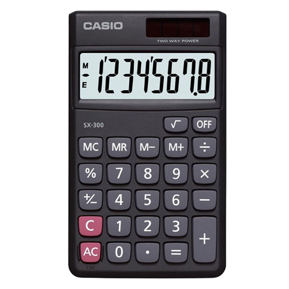 Casio SX300 Value Handheld Calculator Black