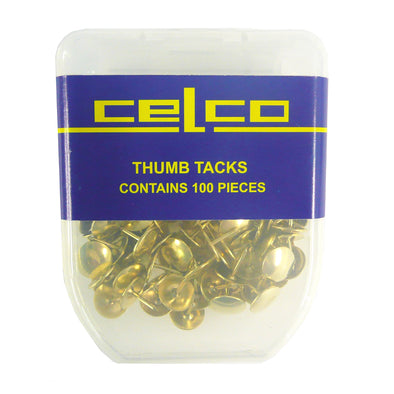 Celco Drawing Pins Brass, Pack of 100 - School Depot