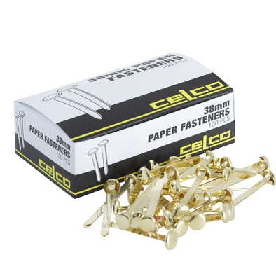 Celco Split Pin Paper Fasteners 38 mm Box of 100 - School Depot