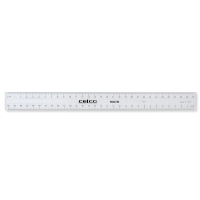 Celco Ruler 30cm Clear Plastic