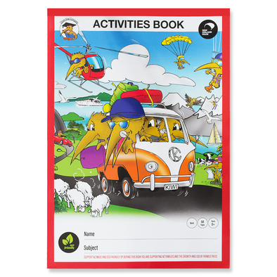 Clever Kiwi Activities Book 64 Pages