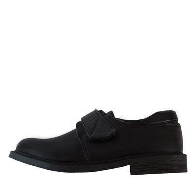 Marty Black School Shoes with Velcro - School Depot NZ