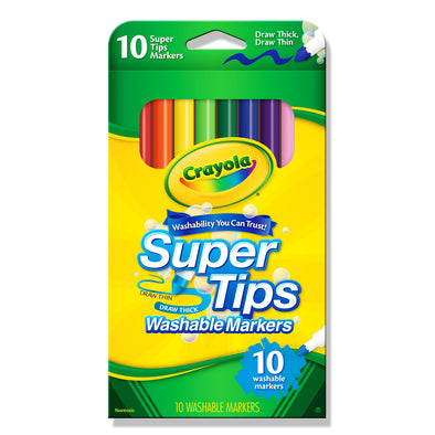 Crayola 10 Washable Super Tips Markers - School Depot NZ