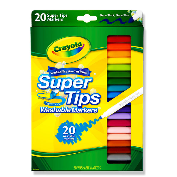 Crayola 20 Washable Super Tips Markers - School Depot NZ