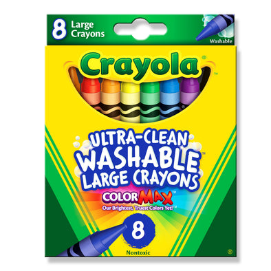 Crayola 8 Washable Large Crayons - School Depot NZ