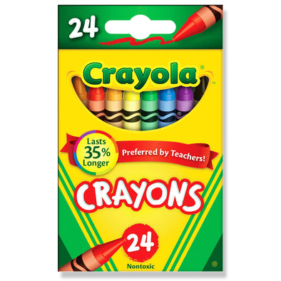 Crayola Crayons, Assorted Colours, Pack of 24 - School Depot NZ