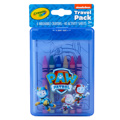 Crayola Paw Patrol Travel Pack Includes 6 Washable Crayons + 40 Activity Sheets