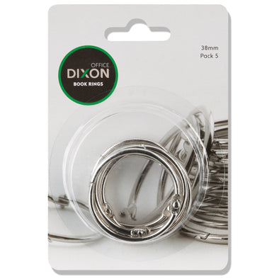 Dixon Book Rings 38 mm Pack of 5 - School Depot NZ