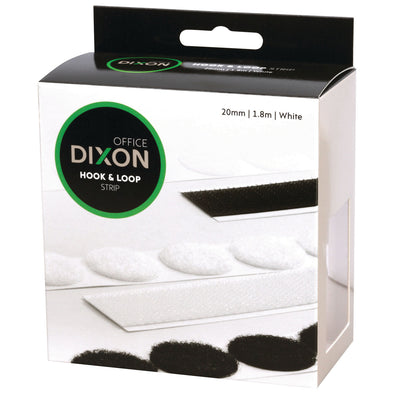 Dixon self-adhesive Hook & Loop Fastener Strip 1.8 M White