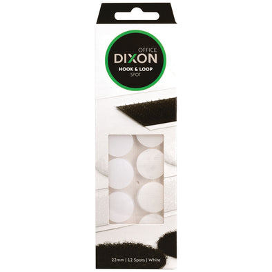 Box of Dixon 12 Hook & Loop Spots Self-Adhesive