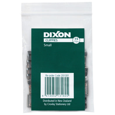 Dixon Paper Clips Clippie Small Pack 15 - School Depot