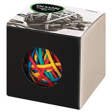 Dixon Rubber Band Ball 200 gm Assorted Colours - School Depot