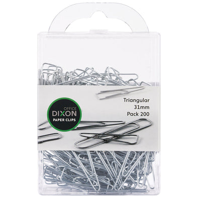 Dixon Paper Clips Triangular 31mm Pack 200