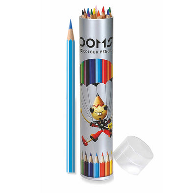 DOMS Coloured Pencils Tin of 12 + 2 Extra